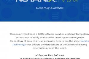 Nutanix Community Edition propos� � la demande via Ravello