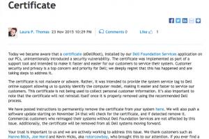eDellRoot : Dell admet et corrige une faille de s�curit� dans ses PC