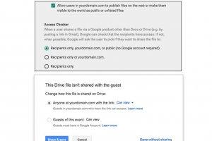Google Drive contr�le mieux le partage de fichiers