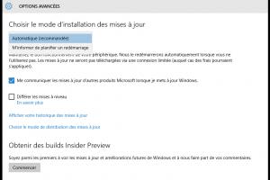 Windows 10 automatiquement pouss� et Build 14257 lanc�e