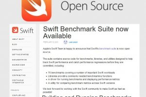Apple open source son outil de mesure de performance de code Swift