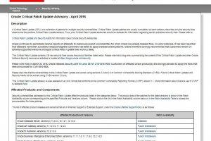 Oracle livre 136 correctifs de s�curit�