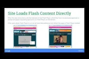 Google part en guerre contre flash avec HTML5