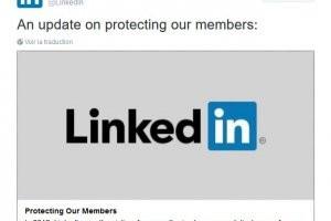 Linkedin agit apr�s la mise en vente de 117 M. d'identifiants
