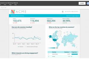 Google d�voile Data Studio, un outil gratuit de visualisation
