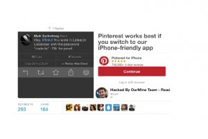 Mark Zuckerberg se fait pirater ses comptes Twitter, LinkedIn et Pinterest
