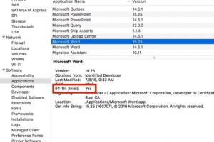 Une bêta 64-bit pour Office 2016 Mac