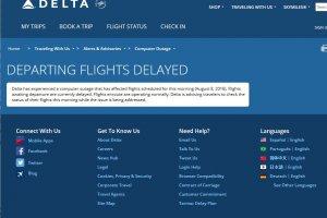 Les vols de Delta Airlines retenus au sol par une panne informatique