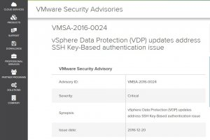 VMware corrige une faille critique dans vSphere Data Protection