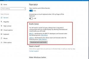 Windows 10 ajoute des fonctions pour les malvoyants