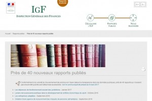 L'Inspection générale des finances publie une salve de rapports open data