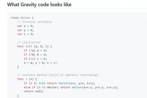 Gravity, un langage de plus pour iOS et Android