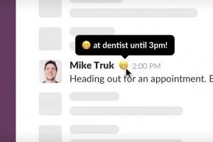 Slack affiche plus facilement les états personnalisés