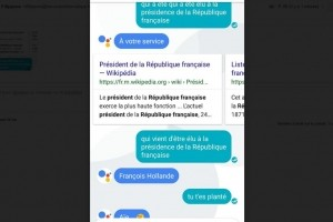 Google Assistant disponible en français dans la messagerie Allo