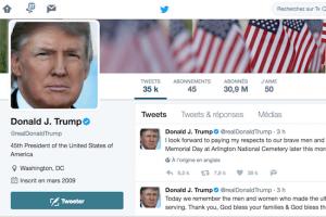 Une seule app sur l'iPhone de Trump: Twitter