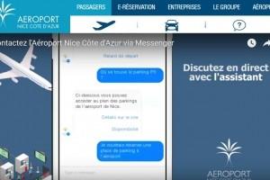 L'aéroport de Nice Côte d'Azur lance son chatbot