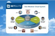 NetSuite combine son offre cloud au BPO de Capgemini et vise l'Europe