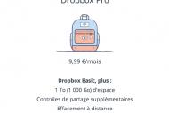 Dropbox propose 1 To de stockage pour 10 €/mois