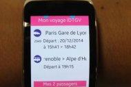 Une app iDTGV pour montre connect�e