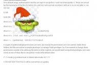 Grinch, une faille dans la gestion des droits d'acc� (MAJ)