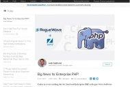 Rogue Wave rach�te Zend, tenant de PHP