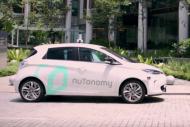 Des taxis autonomes Renault Zo� en test � Singapour