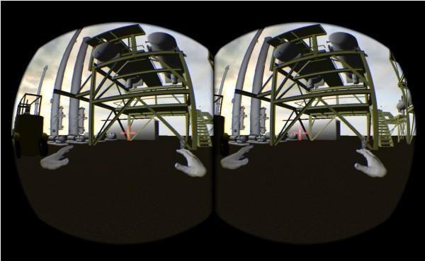 Dans son Lab'Innovation de Suresnes, Capgemini guide ses clients vers la transformation num�rique : ici, une usine vue � travers l'Oculus Rift.