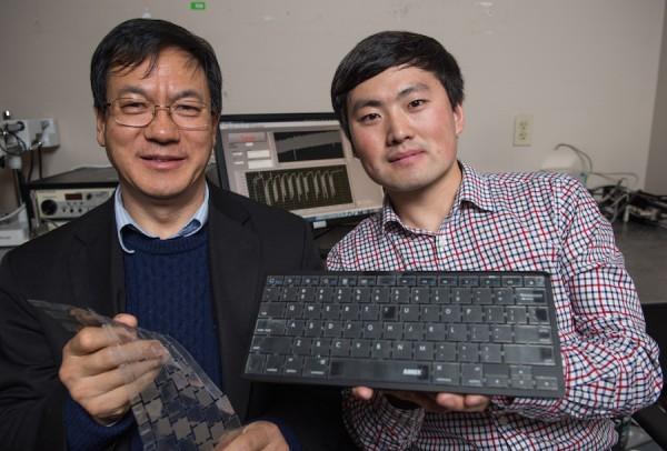 Des chercheurs de l'Universit� de G�orgie ont d�velopp� un clavier sans fil aliment� par la frappe des touches et capable reconnaitre les utilisateurs.