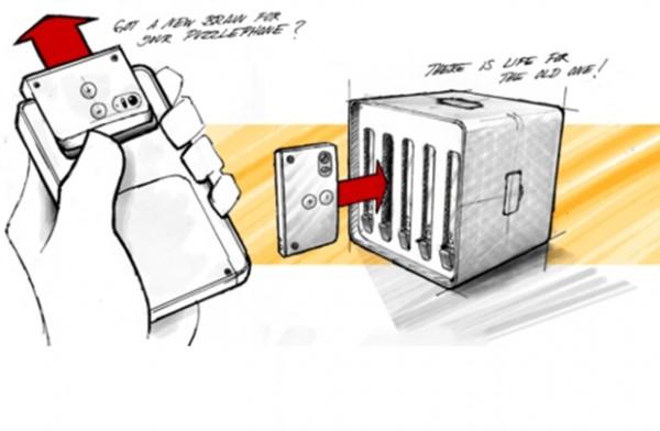 Apr�s Google, Circular Devices d�voile son concept de smartphone modulaire Puzzlephone capable de travailler dans une ferme de mobiles.