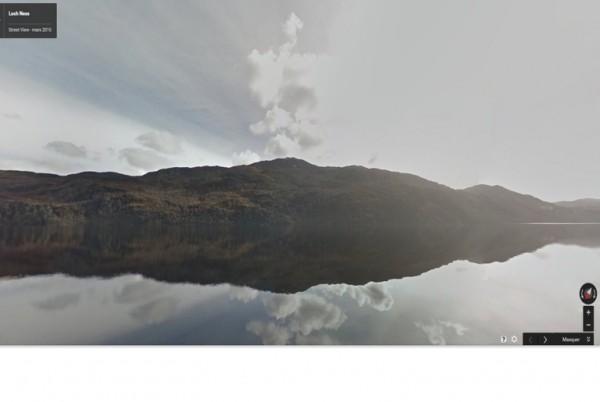 Google permet de d�couvrir via Street View le lac �cossais du Loch Ness et ses environs.