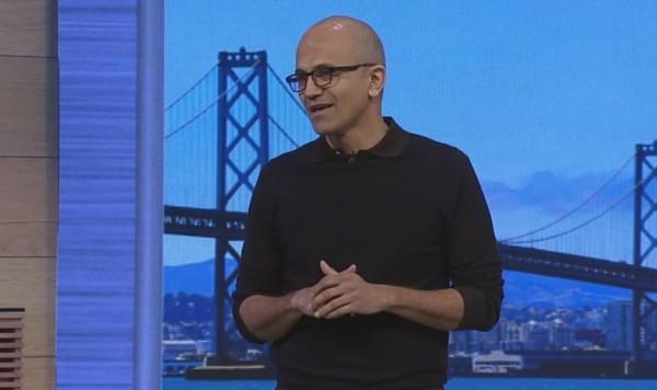 Satya Nadella, CEO de Microsoft, a donn� le coup d'envoi de la conf�rence Build 2015.