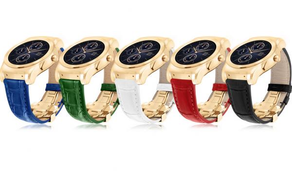 La montre connect�e Urbane Luxe de LG en or 23 carats - et dot�e d'un bracelet en alligator -, est vendue pr�s de 1 100 euros.