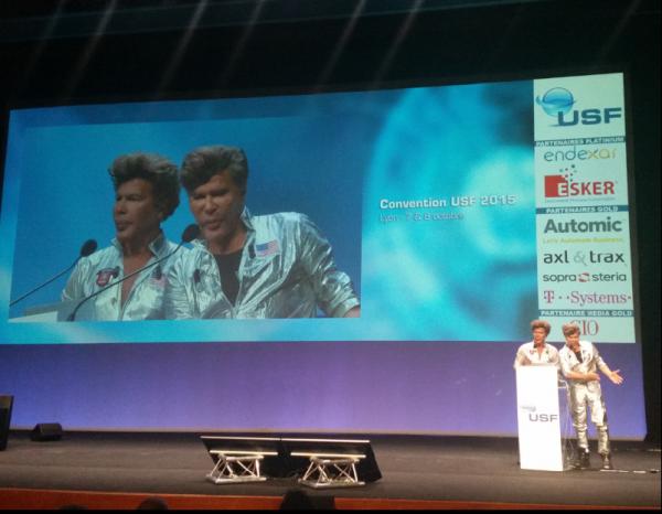 A la convention des Utilisateurs SAP Francophones 2015, un moment a �t� consacr� aux technologies du futur avec les fr�res Bogdanoff en guest-stars.