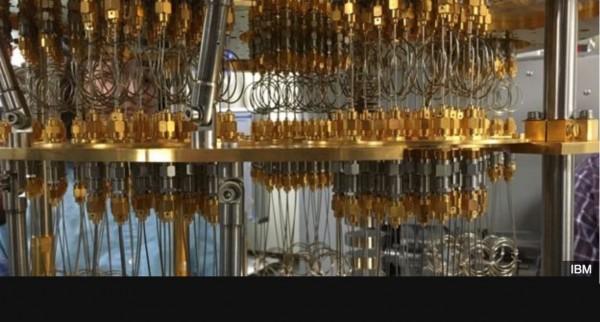 IBM a d�velopp� un processeur quantique de 5 qubits (ou bits quantiques) refroidi dans un bain cryog�nique.