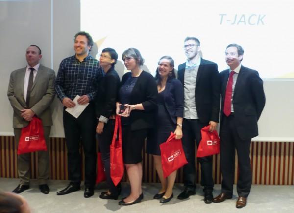 Le D�fi H 2016 a distingu� hier le projet T-Jack des �tudiants de Polytech Grenoble (Prix du D�fi H et Prix de l'innovation technologique) mais aussi SignBand de l'�cole Exia Cesi de Bordeaux (Prix Jeune pousse) et Dicodys de l'ECE Paris (Prix du public).