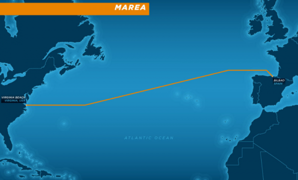 Microsoft et Facebook ont investi dans la construction d'un cable transatlantique qui doit �tre mis en service en octobre 2017.