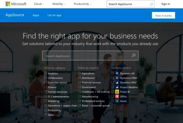 Une version test d'une boutique d'applications d'entreprises par Microsoft a fuit� sur le web avant de dispara�tre...
