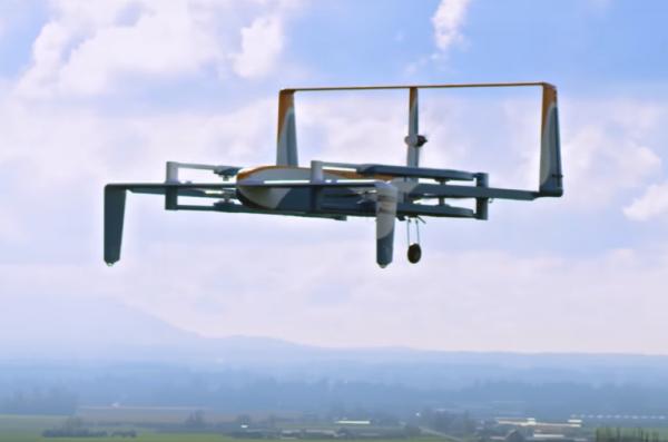 Apr�s les Etats-Unis, Amazon va tester son service de livraison de drones Prime Air au Royaume-Uni.