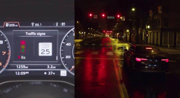 Certains modèles 2017 d'Audi comme l'A4 ou la Q7 vont être équipés du système Traffic Light permettant de communiquer en Wi-Fi avec les feux rouges.