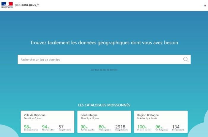 La Dinum éteint geo.data.gouv.fr