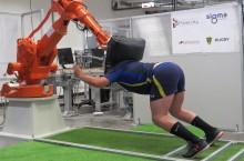 Un joug de rugby robotisé pour entraîner une mêlée