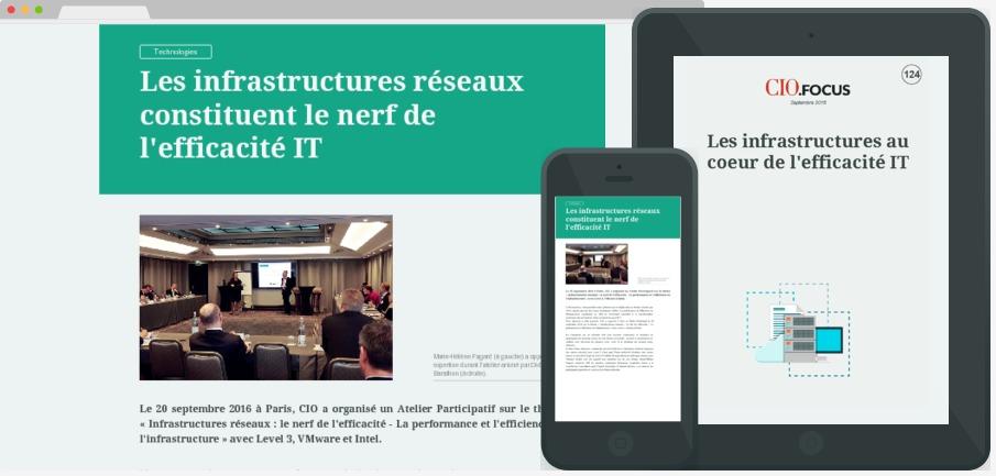 Les infrastructures au coeur de l'efficacité IT