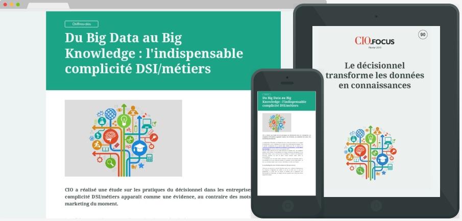 Le décisionnel transforme les données en connaissances