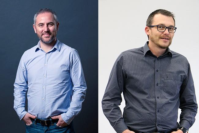 Samuel Cardineau, DSI d'Idéa et Fabrice Jenouvrier, Expert de l'infrastructure d'hébergement chez Proginov
