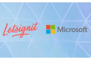 Microsoft d�voile l'Add-in Microsoft 365 de l'ISV fran�ais Letsignit