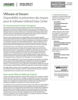 Descriptif de solution : Datacenter défini par logiciel Veeam et VMware