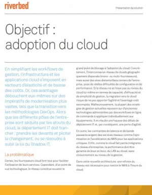 Objectif : Adoption du Cloud