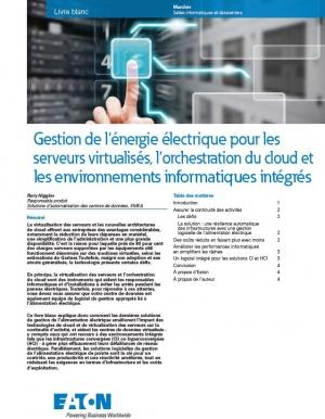 Gestion de l'alimentation pour la virtualisation des serveurs, l'orchestration du cloud et les environnements informatiques intégrés