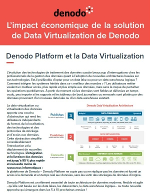 L'impact économique de la solution de Data Virtualization de Denodo