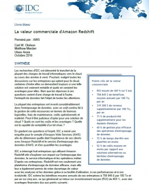 Etude IDC - Stocker ses données dans Amazon est-il rentable ? - 8 entreprises en parlent